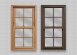 wp lang exterior powerweld double hung light oak cocoa colonial grids