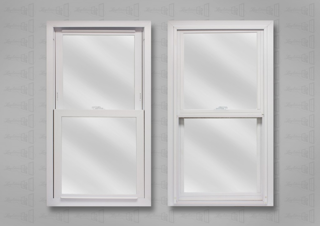 lang exterior powerweld white double hung clear glass