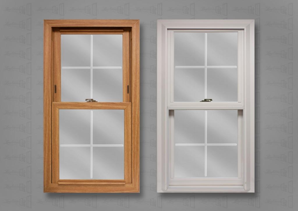 Lang Exterior Light Oak White Colonial V-Groove Glass