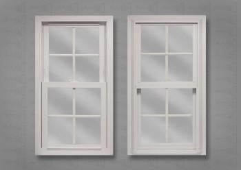 Lang Exterior Platinum White on White Contour Colonial Grids