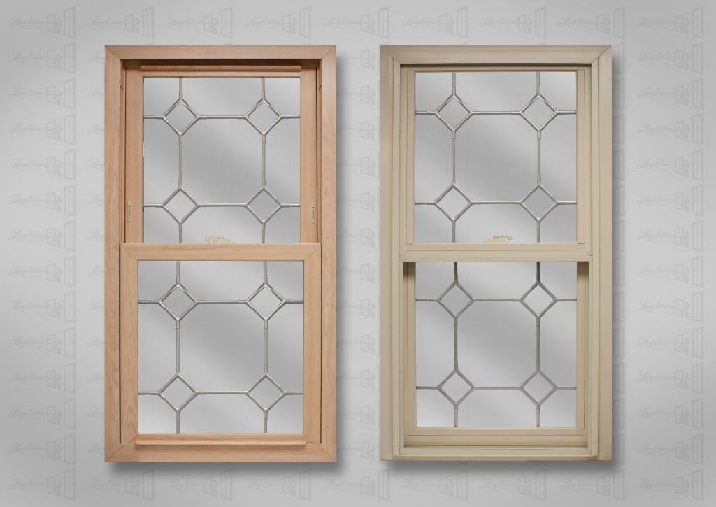 Powerweld 1600 Bleached Oak Beige Doublehung with Diamond Nickel corners