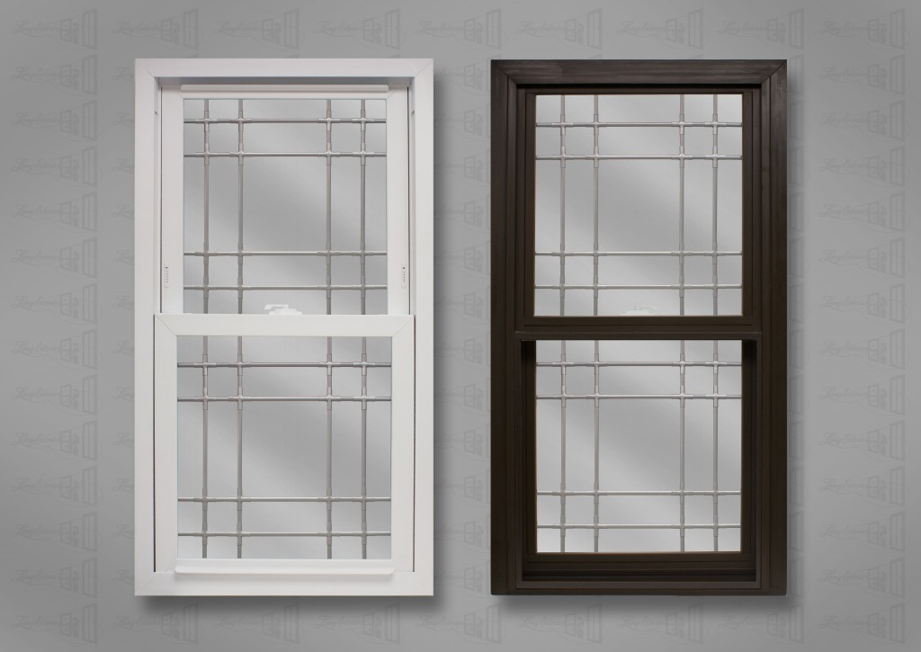 lang exterior powerweld double hung white bronze double prarie nickel grids