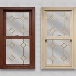 wp lang exterior platinum 2400 cherry oak beige double hung brass diamond corner grids